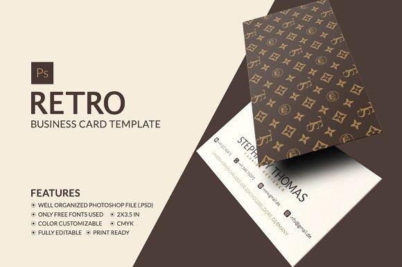 retro business card business card templates creative market