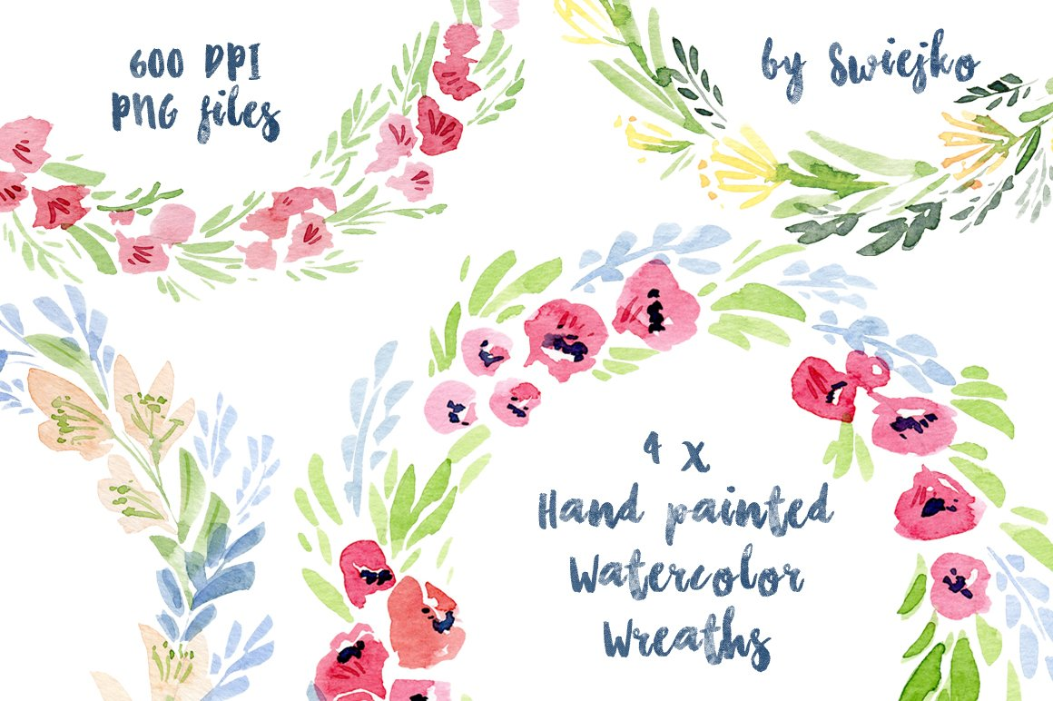 Watercolor Floral Frames ~ Illustrations ~ Creative Market