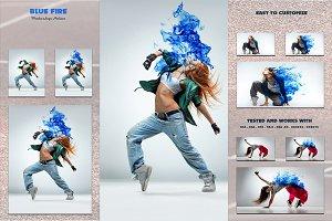 Blue Fire - Photoshop Action