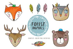 Adorable forest animals