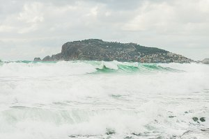 Stormy Mediterranean sea