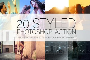 20 Styled Effects - Photoshop Action