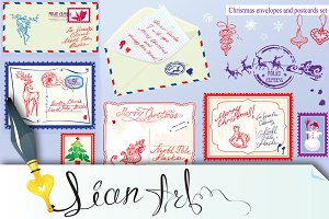 Collection of Christmas envelops