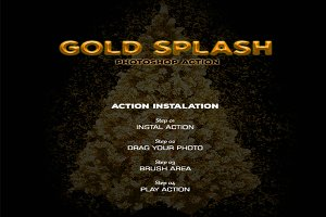 Gold Splash - Photoshop Action