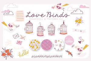 Love Birds | Vector Set