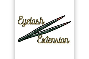 eyelash extension emblem