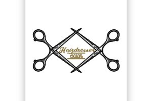 hairdresser salon emblem