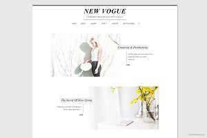 New Vogue - Modern WordPress Theme