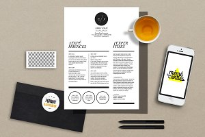 Jolie - Resume template Illustrator