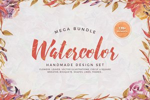 Watercolor Handmade Design Bundle