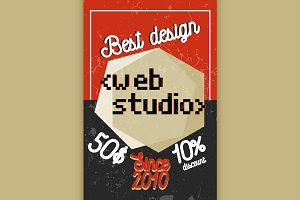 Color vintage web studio banner