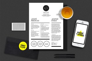 Jolie - Resume template Photoshop