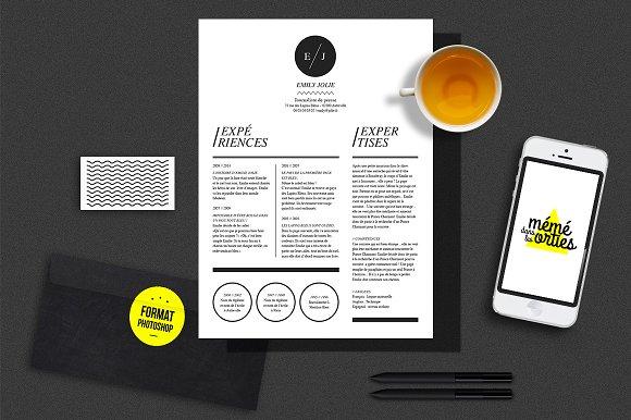 Jolie Resume Template Photoshop Resume Templates Creative Market