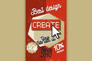 Color vintage web studio banner