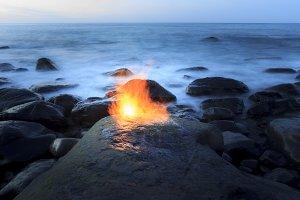 Fire on the coast