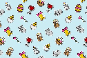 Colored easter pattern