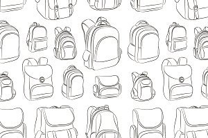School backpacks set pattern