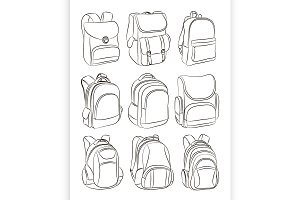 School backpacks set