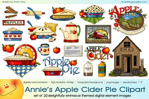 Annie's Apple Cider Pie Clipart