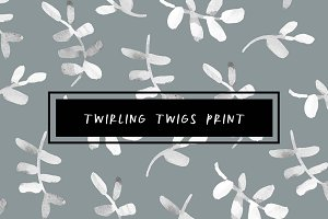 Twirling Twigs Print