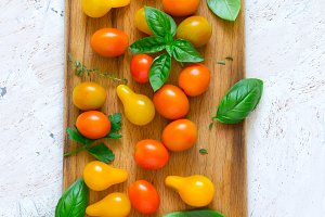 Different cherry tomatoes