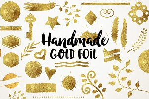 28 Handmade Gold Foil Element