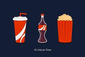 Cartoon Icon Set for Movie Time