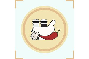Spices icon. Vector