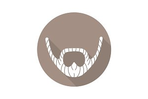 Beard icon. Vector