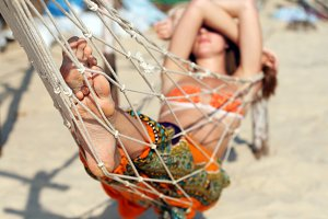hammock on the beach