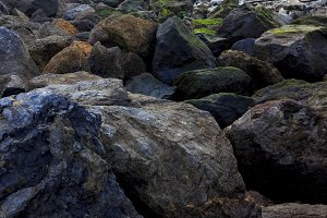 Rocky textures and colours