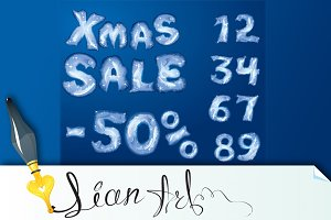Symbol Christmas SALE, numerals