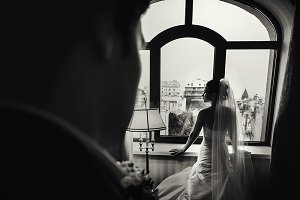 Bride waits for a groom