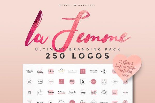 250 Feminine Logos Pack