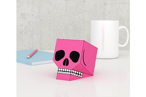 DIY Skull Favor - 3d papercrafts
