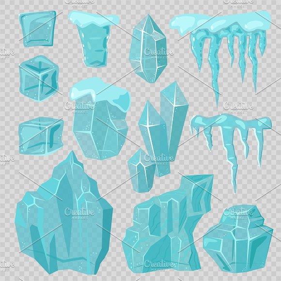 Set of ice caps vector