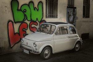 little cute retro Italian car