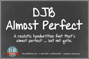 DJB Almost Perfect Font