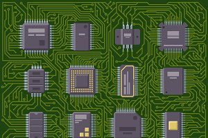 CPU microprocessors isolated vector