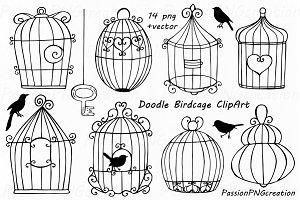 Doodle Birdcage ClipArt