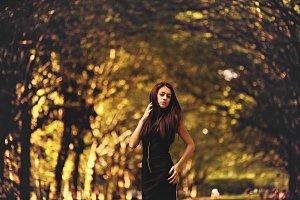 Amazing girl on the street