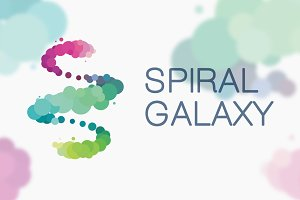 Spiral Galaxy Logo Template