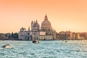 Venice and Grand Canal, Italy.