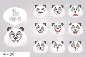 smiles pandas