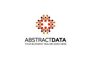 Abstract Data Logo Template