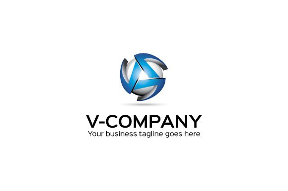 V company logo template logo templates creative market cheaphphosting Gallery
