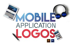 Mobile Application Branding Logos