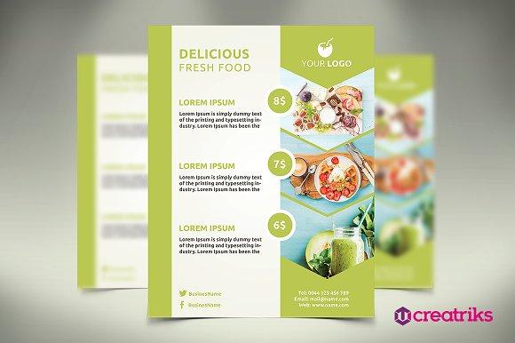 fresh food flyer flyer templates creative market