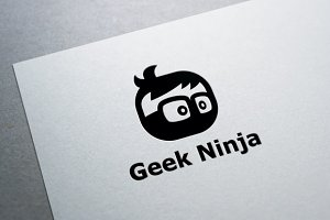 Geek Ninja Logo Template