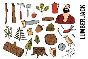 Lumberjack Forest Doodles